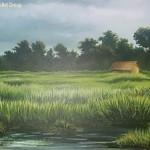 acrylic on canvas~by thoi moirangthem